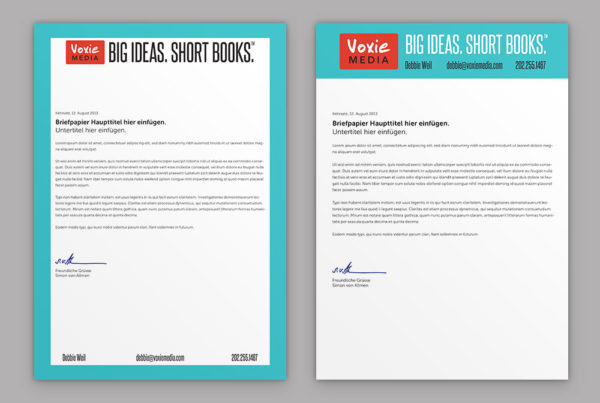 Voxie Media letterheads